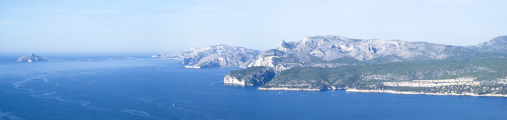 Landscape view of the Calanques National Park, France