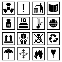 Packing Symbols Black