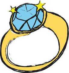 cartoon diamond wedding ring