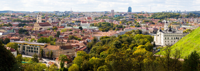 Top view panorama of Vilnius old town