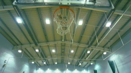 Slow motion basketball 3 point jump shot