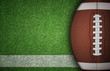 American Football Ball on Grass - 74201342