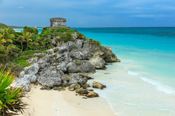 God of Winds Temple. Ancient Mayan ruins in Tulum, Mexico