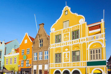 Colonial houses in Willemstad. Curacao, Netherlands Antilles