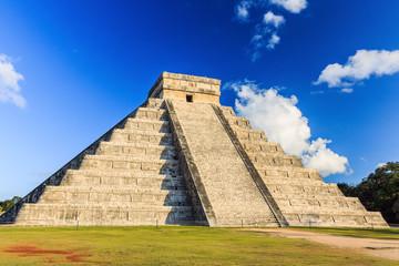 Pyramid of Kukulcan El Castillo in Chichen-Itza, Mexico