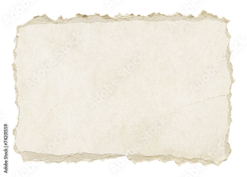 Grey torn grunge paper texture - 74201559