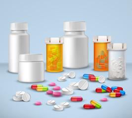 Pill Bottles Set