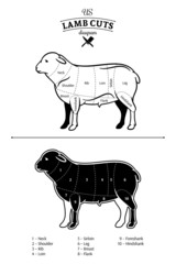 American (US) Lamb Cuts Diagram