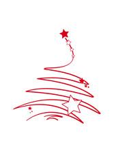 roter weihnachtsbaum mit sternen