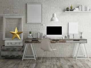 Loft workspace background