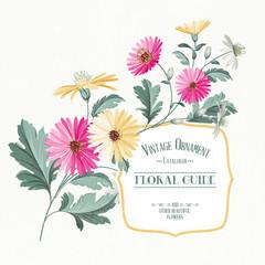 Vintage flower card.