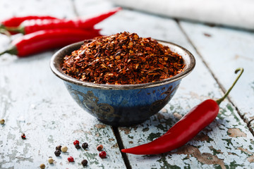 red hot dry pepper spice