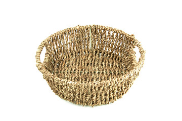 basketwork on white background