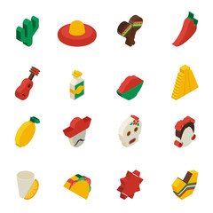 Mexican Icons Isometric