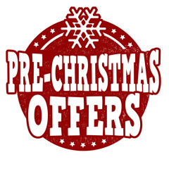 Pre Christmas offers stamp