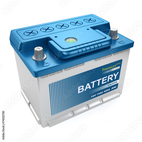 Leinwandbild Motiv Automotive battery isolated