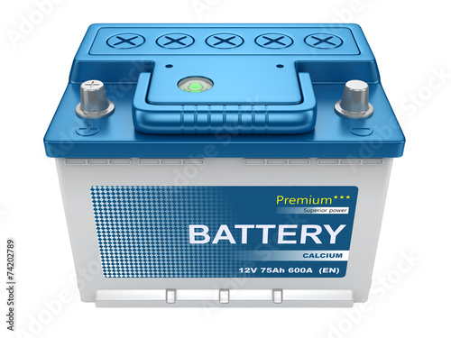Automotive battery isolated - 74202789