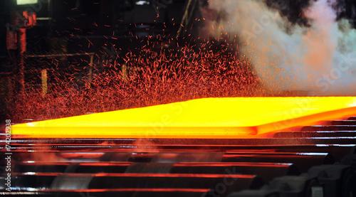 Leinwanddruck Bild hot rolling mill