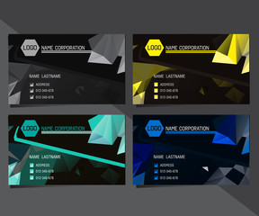 geometric triangular business card