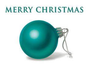 Weihnachtsbaumkugel in blaugrün