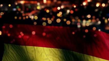 Germany Flag Light Night Bokeh Abstract Loop Animation