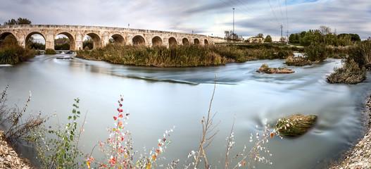 Panoramic longest bridge in Aranjuez. Spain