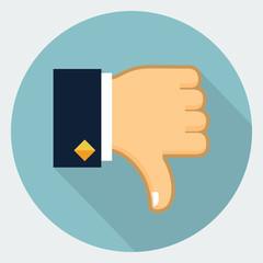 Vector thumb down icon