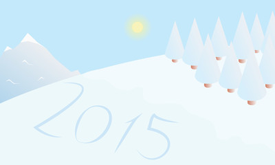 Winter background happy new year 2015