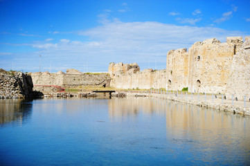 Patras venecian fortress on summer