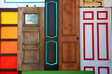 Multi Color Abstract Door Art Piece