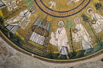 Arian Baptistery mosaic on the ceil, Ravenna