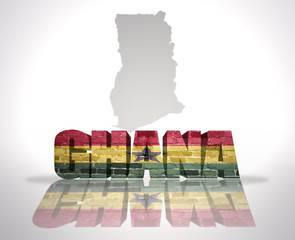 Word Ghana on a map background