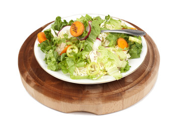 salad bowl isolated on white