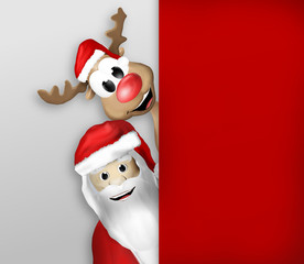Christmas Santa Claus and Reindeer