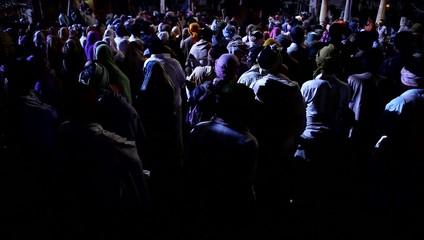 Night life of village people