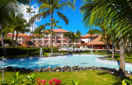 Papiers peints Océanie Tropical resort.