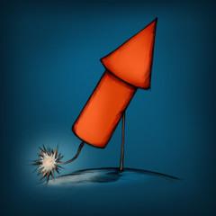 Rakete kurz vor der Zündung