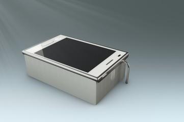 smartphone looks like bath