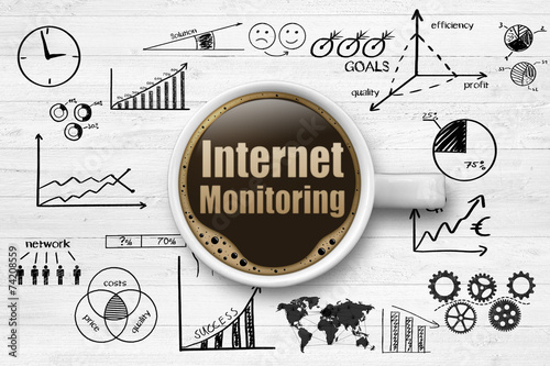 canvas print picture Internet Monitoring