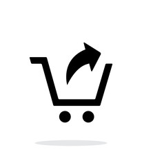 Remove from shopping cart simple icon on white background.