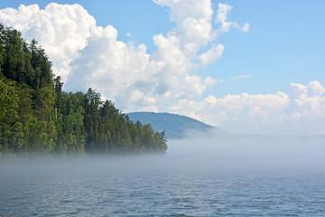 Early morning at the Teletskoye lake