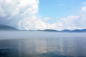 Early morning at the mysterious Teletskoye lake