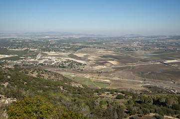 View of the Jezreel Valley.Israel.