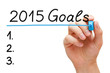 Goals 2015 Hand Blue Marker