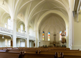 Interior of the Evangelical-Lutheran Stt. Peter-and-Paul's Cathe