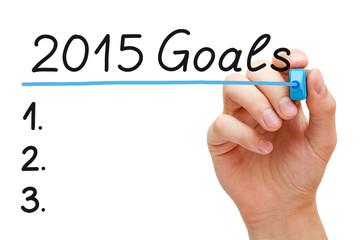 Goals 2015 Hand Blue Marker