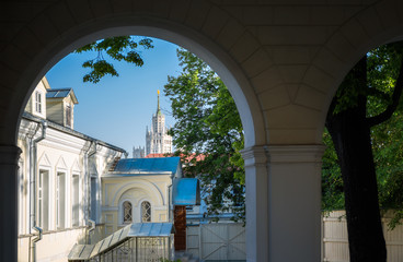 Yard of the St. John the Baptist convent in Moscow