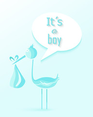 Baby shower boy invitation card design