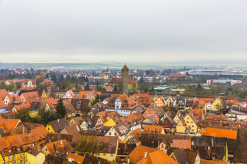aerial of  Rothenburg ob der Tauber