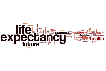 Life expectancy word cloud
